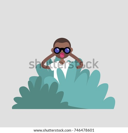 young black character hiding in
