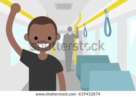 young black passenger riding by