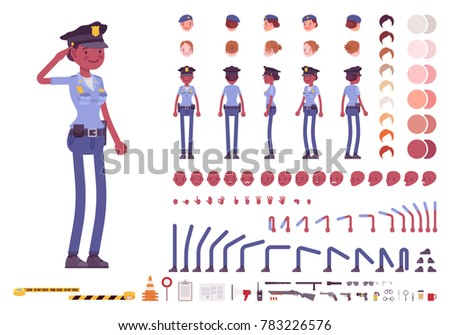 young black policewoman  female