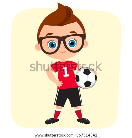 young boy kid playing football