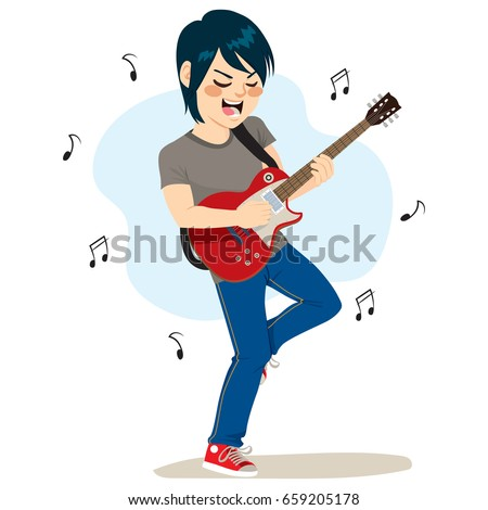 young boy playing electric