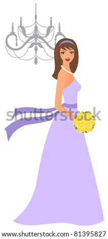 young bridesmaid in purple