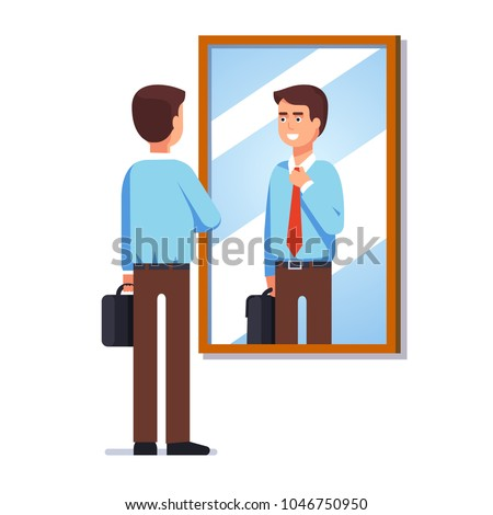 young business man looking at