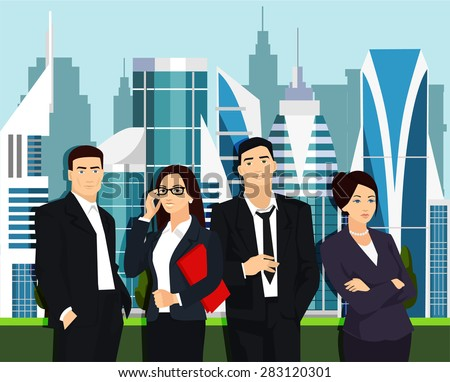 young business people vector