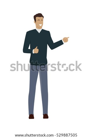 young businessman character