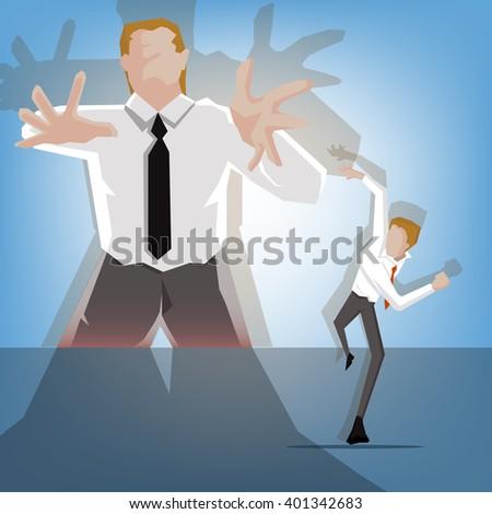 young businessman runaway