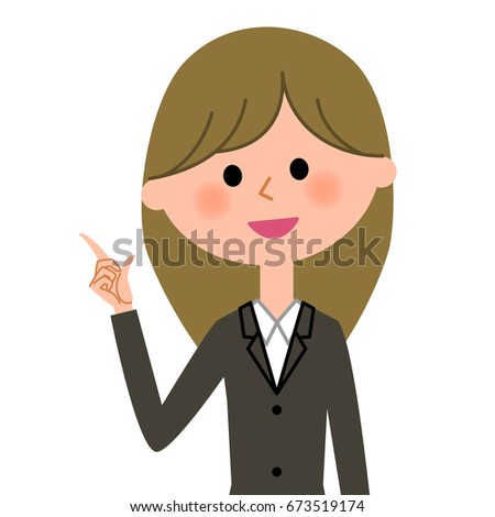Young businesswoman,Finger pointing