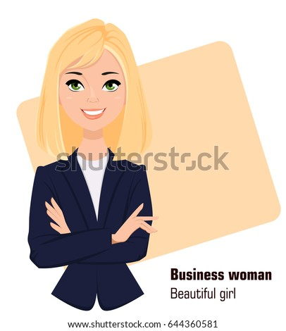 young cartoon businesswoman