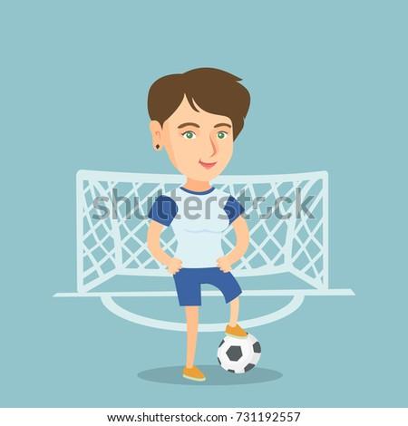 young caucasian sportswoman