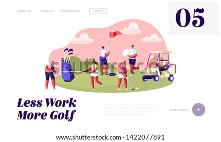 young characters with golf