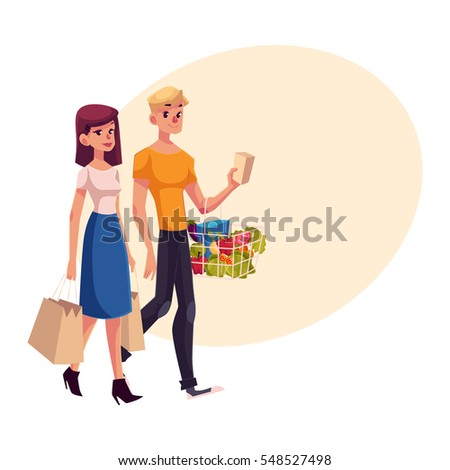 young couple  family  man and