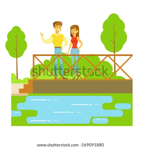 young couple standing on the