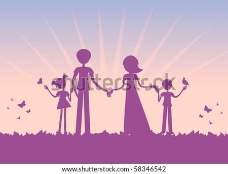 cartoon sunset. sunset vector cartoon