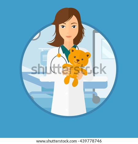 young female pediatrician