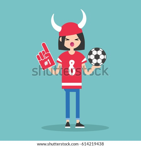 young football fan wearing