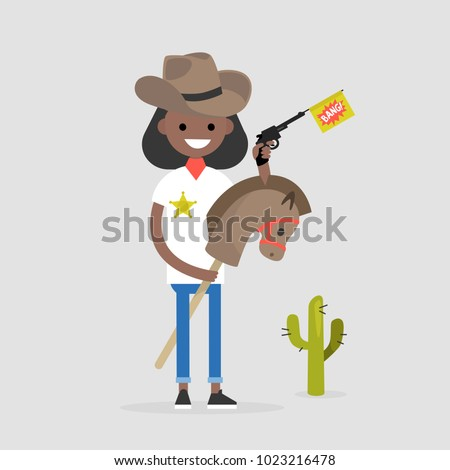 young funny female sheriff