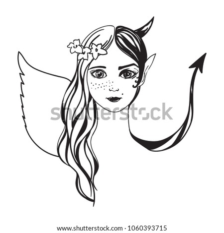 young girl in the image of