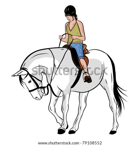 young girl on the horse