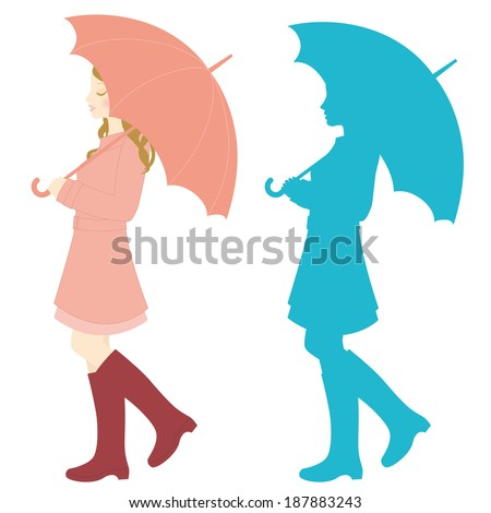 young girl with umbrella
