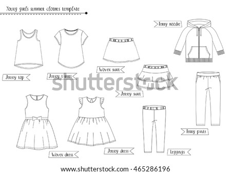 Clothing templates pack - Download Free Vector Art, Stock Graphics ...