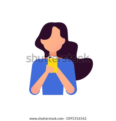 Young girls using phone, sitting legs crossed  and coming up with ideas