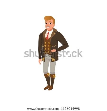 young guy in steampunk clothes