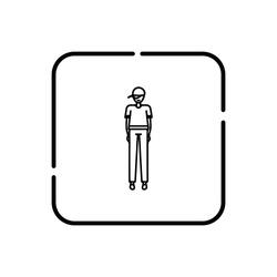 Young hip-hop style boy, human symbol vector icon