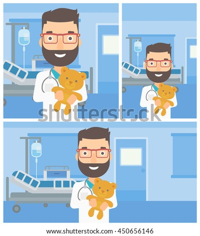 young hipster male pediatrician
