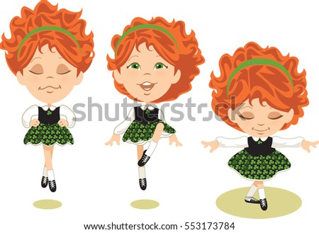 young irish dancer performing