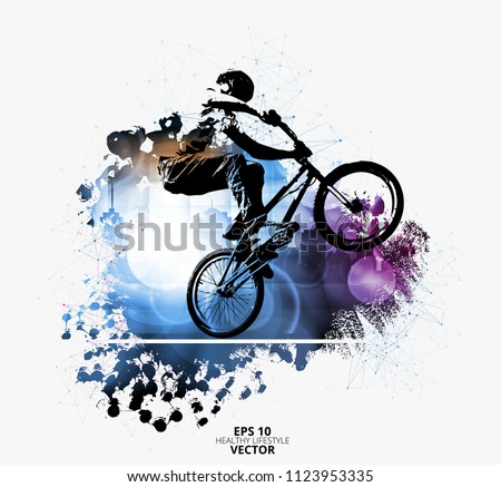 young male bicycle jumper