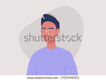 young male character portrait