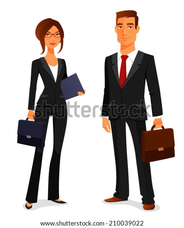 young man and woman in elegant