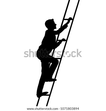young man climbs the stairs of