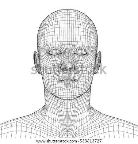 stock-vector-young-man-face-portrait-d-wireframe-head-vector-illustration