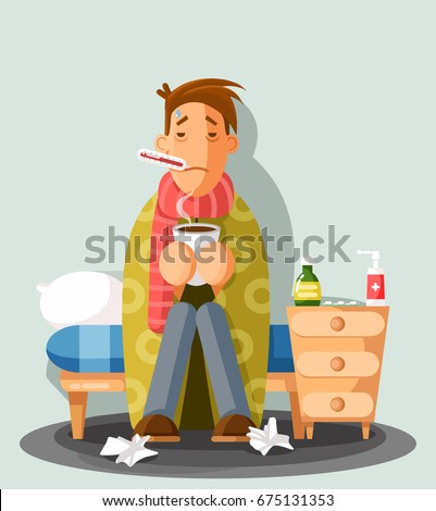 young man having a cold