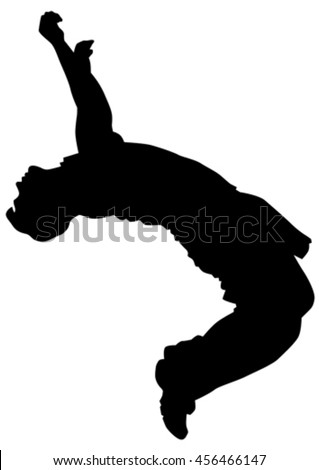 young man in a jump on white