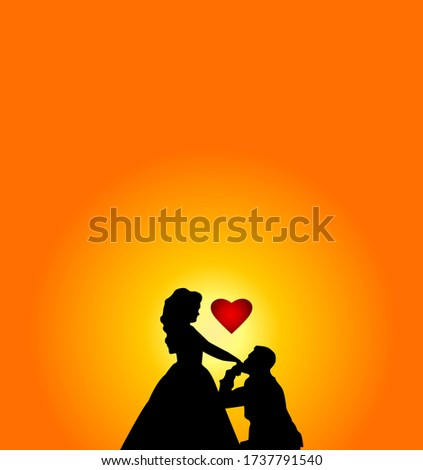 young man kissing beloved's