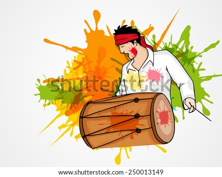 young man playing drum on