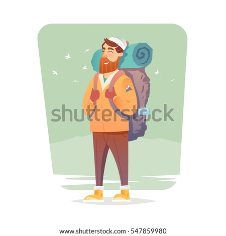 young man walking alone on a