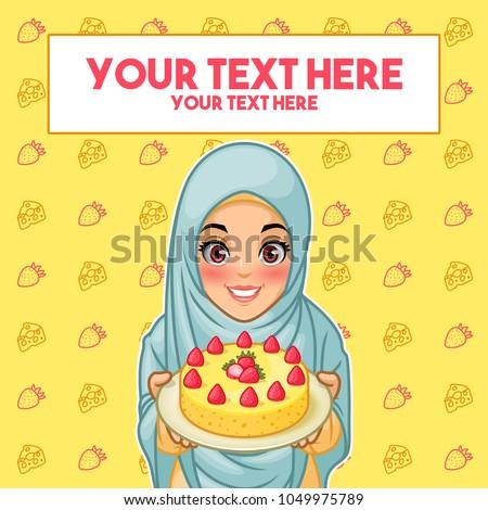 young muslim woman wearing