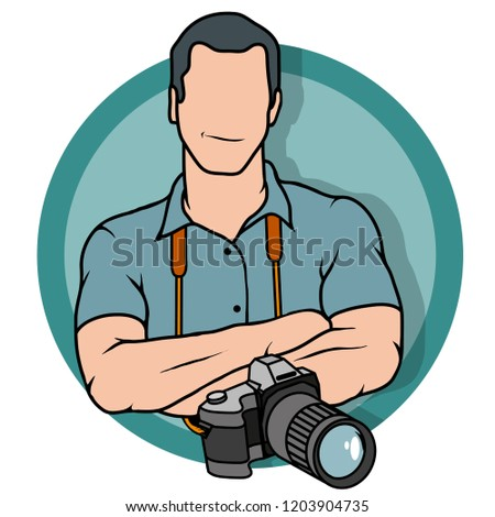 young photographer, photographer with camera, photographer logo