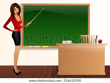 young pretty good teacher board Pointer teacher