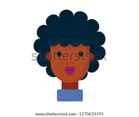 Young pretty women, pretty faces with hairstyle. Cartoon beautiful girl, flat style. Avatar business woman. Vector illustration