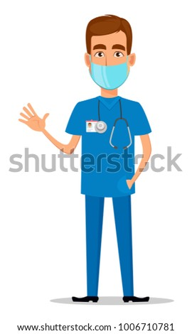young professional doctor in