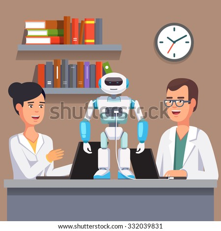 young researchers man and woman