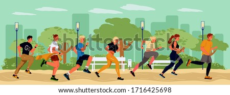 young runners spending time in