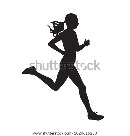 stock-vector-young-running-woman-isolated-vector-silhouette-run-side-view