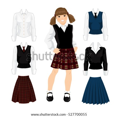 young school or student girl in