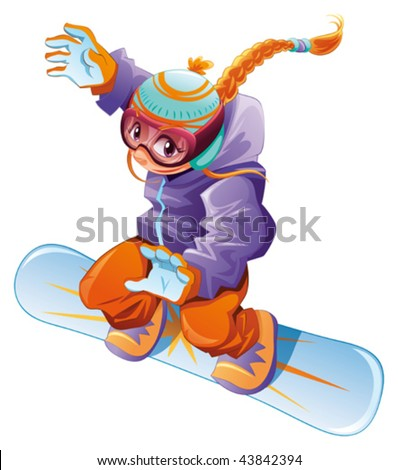 Vector cartoon sport character
