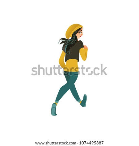 young sportive girl in athletic